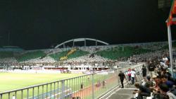 Kemeriahan suporter klub Liga 1 PSS Sleman di Stadion Maguwoharjo.
