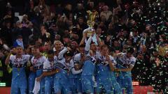Indosport - Lazio juara Coppa Italia 2019 usai mengalahkan Atalanta (15/05/2019).
