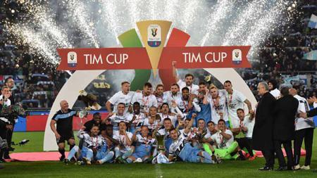 Lazio juara Coppa Italia 2019 usai mengalahkan Atalanta (15/05/2019). Foto: Giuseppe Bellini/Getty Images - INDOSPORT