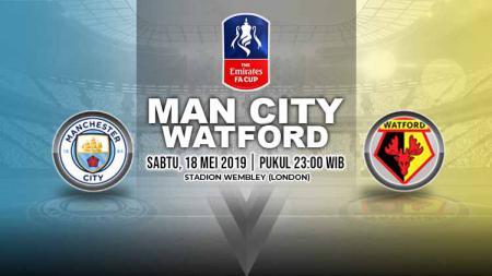 Pertandingan Manchester City vs Watford. Grafis: Yanto/Indosport.com - INDOSPORT