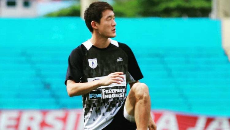 Oh In-kyun, pemain Persipura Jayapura. Copyright: Istimewa