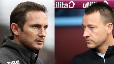 John Terry (kanan) menjadi salah satu kandidat untuk menjadi pelatih anyar Newcastle United menggantikan Rafael Benitez - INDOSPORT