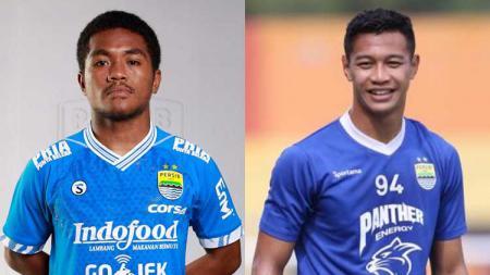 Billy Keraf dan Moch Al Amin Syukur Fisabilillah, dua pemain Persib Bandung yang dipinjamkan ke Badak Lampung FC. - INDOSPORT