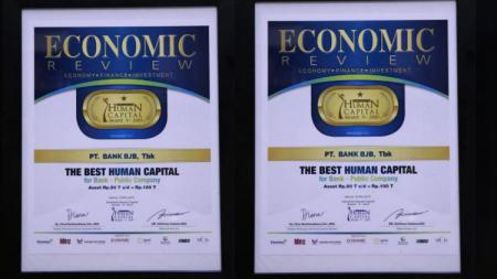 Bank bjb berhasil meraih penghargaan The Best Human Capital untuk bank publik dalam Indonesia Human Capital Award (IHCA) V 2019. - INDOSPORT