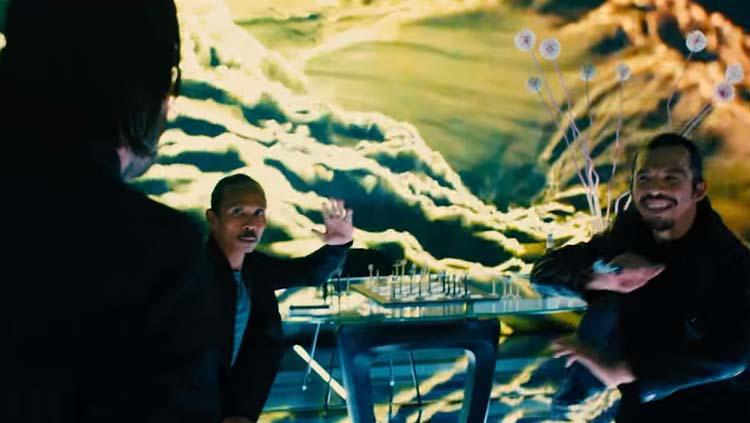 Yayan Ruhian dan Cecep Arif Rahman saat memperagakan aksi pencak silat di film John Wick Copyright: Youtube LionsGate