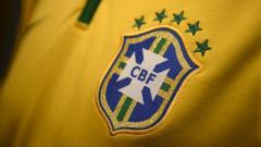 Indosport - Logo Jersey Timnas Brasil