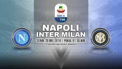 Indosport - Pertandingan Napoli vs Inter Milan. Grafis: Yanto/Indosport.com