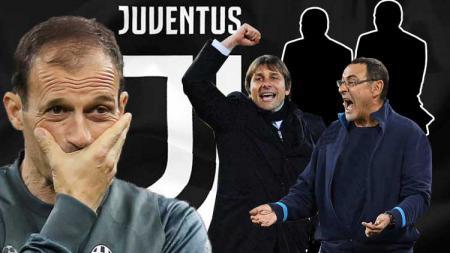 Maurizio Sarri, Antonio Conte menjadi kandidat pengganti Allegri di Juventus. - INDOSPORT