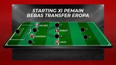 Indosport - Starting XI Pemain Bebas Transfer Eropa