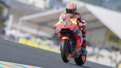 Indosport - Posisi start Marquez di MotoGP Catalunya 2019 bakal dikerubuti para pembalap Yamaha. Mirco Lazzari gp/Getty Images.
