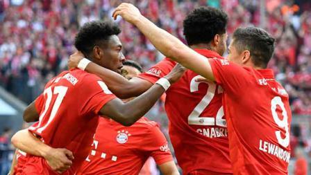 Selebrasi para pemain Bayern Munchen.