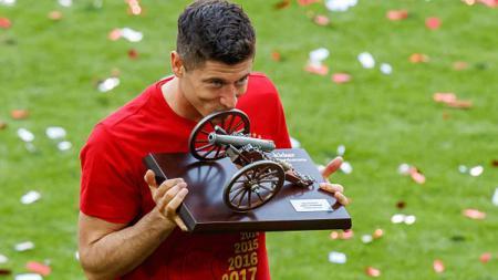 Striker Bayern Munchen, Robert Lewandowski menjadi top skor Bundesliga Jerman 2018-19. - INDOSPORT