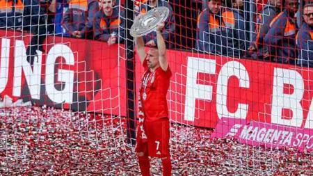 Franck Ribery yang berpisah dengan Bayern Munchen kini kabarnya diminati klub sepak bola Inggris, Liverpool. TF-Images/GettyImages. - INDOSPORT