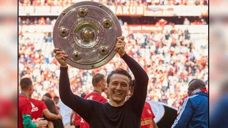 Niko Kovac, pelatih yang memberikan gelar juara Bundesliga 2018-19 untuk Bayern Munchen.