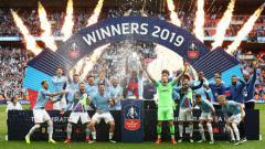 Indosport - Selebrasi Manchester City juara Piala FA 2018/19.