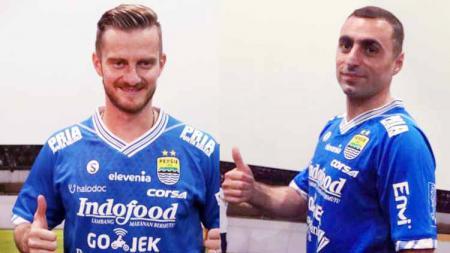 Pemain Persib, Rene Mihelic dan Artur Gevorkyan jadi double pivot yang memegang peranan penting kemenangan Persib Bandung atas Persipura Jayapura. Foto: thebombsnews/goal - INDOSPORT