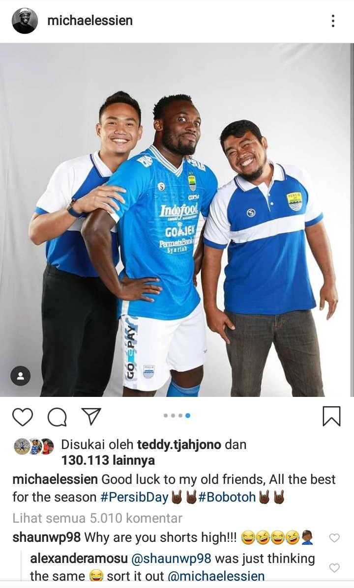 Shaun Wright Phillips Mengejek Michael Essien Copyright: Instagram/Michaelessien