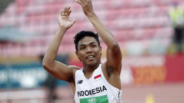 Sprinter muda Indonesia, Lalu Muhammad Zohri Lolos ke Olimpiade 2020. Foto: KALLE PARKKINEN/AFP/Getty Images - INDOSPORT