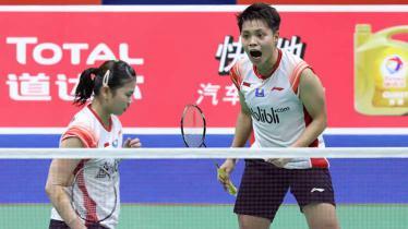 Satu angka kemenangan lagi dipersembahkan pasangan Greysia Polii dan Apriyani Rahayu di babak penyisihan grup B Piala Sudirman antara Indonesia melawan Inggris. Foto: Humas PBSI - INDOSPORT