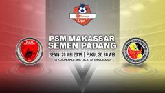 Indosport - Pertandingan PSM Makassar vs Semen Padang. Grafis: Yanto/Indosport.com