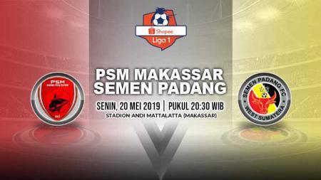 Pertandingan PSM Makassar vs Semen Padang. Grafis: Yanto/Indosport.com - INDOSPORT
