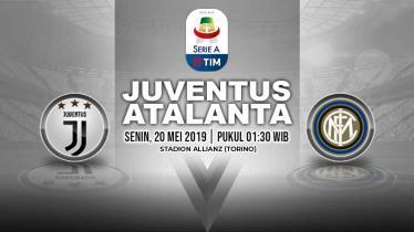 Pertandingan Juventus vs Atalanta. Grafis: Yanto/Indosport.com