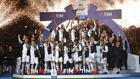Perayaan Juventus juara Serie A Italia musim ini usai. Tullio M. Puglia/Getty Images