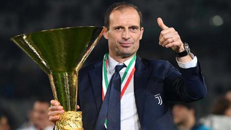 Massimiliano Allegri membawa Juventus juara Serie A Italia dan ini menjadi musim akhir Alllegri bersama Juventus. Tullio M. Puglia/Getty Images - INDOSPORT