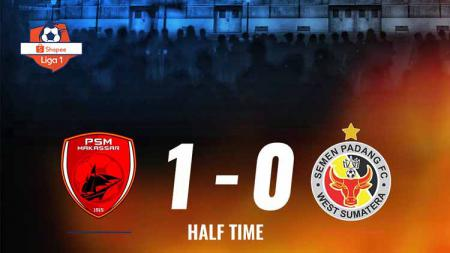 Pertandingan PSM Makassar vs Semen Padang. Foto: Twitter@Liga1Match - INDOSPORT