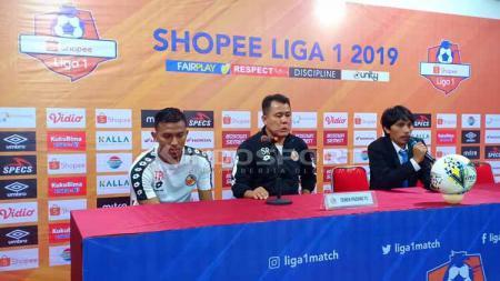 Semen Padang dalam jumpa pers usai laga melawan PSM Makassar - INDOSPORT