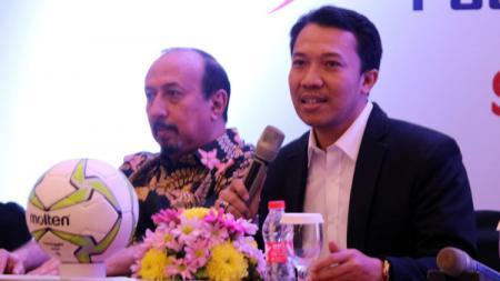 Sekretaris Asprov PSSI Jatim, Amir Burhanuddin saat drawing Liga 3, Selasa (21/5/19). - INDOSPORT