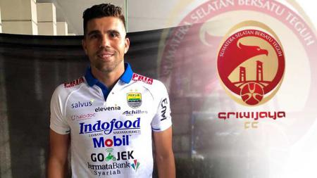 Fabiano Beltrame dan logo Sriwijaya FC - INDOSPORT