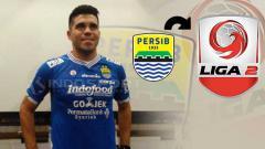 Indosport - Fabiano Beltrame logo Persib Bandung, dan Liga 2