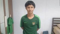 Indosport - Tristan Alif Naufal saat mengikuti seleksi Timnas Indonesia U-16.