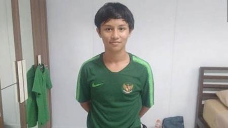 Tristan Alif Naufal saat mengikuti seleksi Timnas Indonesia U-16. - INDOSPORT