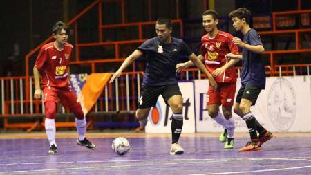 Situasi laga uji coba Timnas futsal U-20 Indonesia melawan klub futsal Thailand, Highway FC Selasa (21/05/19). - INDOSPORT