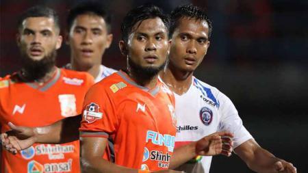 Pertandingan antara Pusamani Borneo vs Arema FC. Foto: Twitter@Liga1Match - INDOSPORT