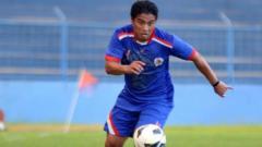 Indosport - Rigan Agachi saat membela Arema Indonesia