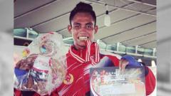 Indosport - Valentinus Nahak, mantan petinju Asian Games 2018 ini meninggal karena kanker Kelenjar Getah Bening. Foto: vidio.com