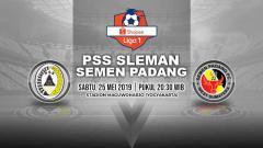 Indosport - Pertandingan PSS Sleman vs Semen Padang. Grafis: Yanto/Indosport.com
