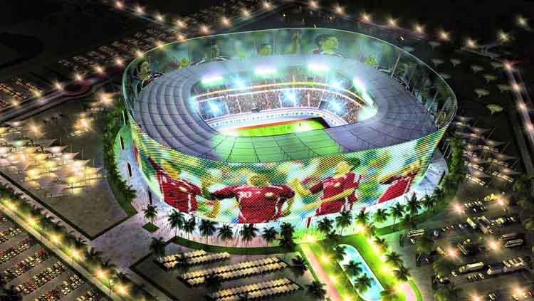 Desain Stadion Ahmed bin Ali untuk Piala Dunia 2022 Qatar. Copyright: Doha News