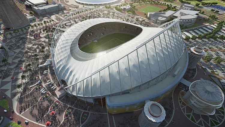 Stadion Internasional Khalifa, Qatar, untuk Piala Dunia 2022. Copyright: StadiumDB