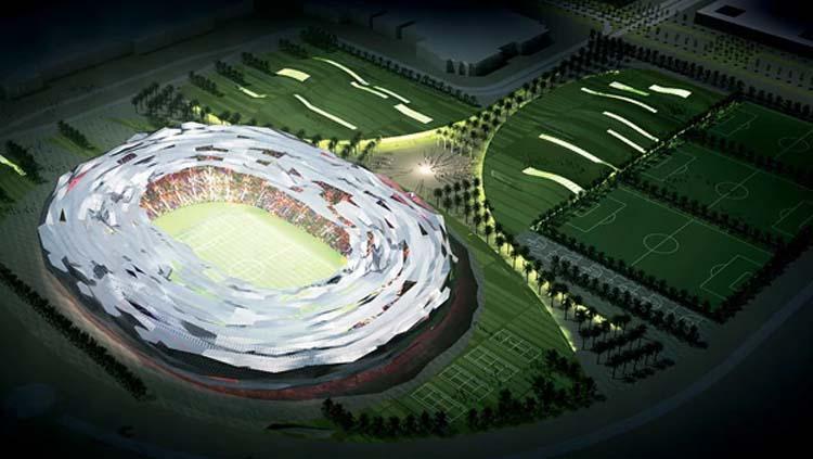 Stadion Qatar Foundation, Qatar untuk Piala Dunia 2022. Copyright: Football Wiki