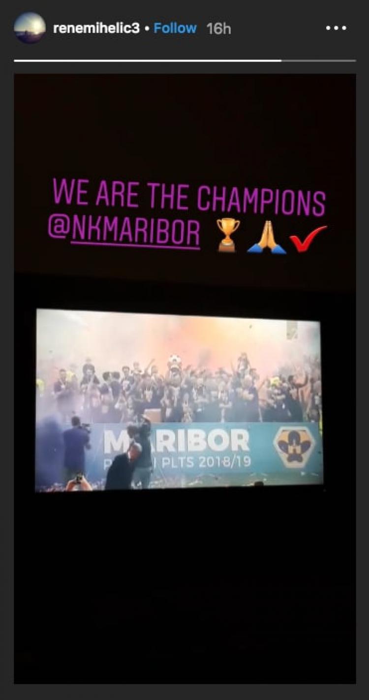 Rene Mihelic Rayakan Gelar Juara Klub Copyright: https://www.instagram.com/renemihelic3/