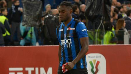 Striker Atalanta Duvan Zapata yang sudah tampil bersinar di Serie A Italia 2018/19. (Foto: Silvia Lore/NurPhoto via Getty Images) - INDOSPORT