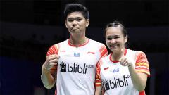 Indosport - Praveen Jordan dan Melati Daeva Oktavianti mengalahkan Zheng Si Wei/Huang Ya Qiong di Denmark Open 2019.  Foto: badmintonindonesia.org