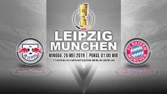 Indosport - Pertandingan Leipzig vs Bayern Munchen. Grafis: Yanto/Indosport.com