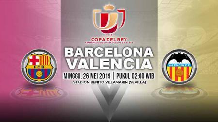Pertandingan Barcelona vs Valencia. Grafis: Yanto/Indosport.com - INDOSPORT