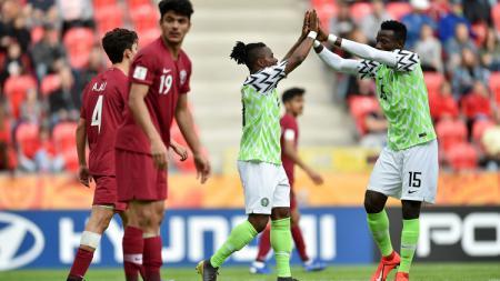Nigeria U-19 menang 4-0 atas Qatar U-19 pada Piala Dunia U-20 di Polandia, Sabtu (25/05/19). - INDOSPORT