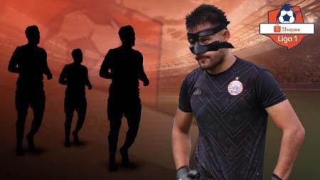 Akibat cedera di wajah, 4 pemain Liga 1 ini pernah pakai topeng diantaranya Andritany Ardhiyasa. - INDOSPORT